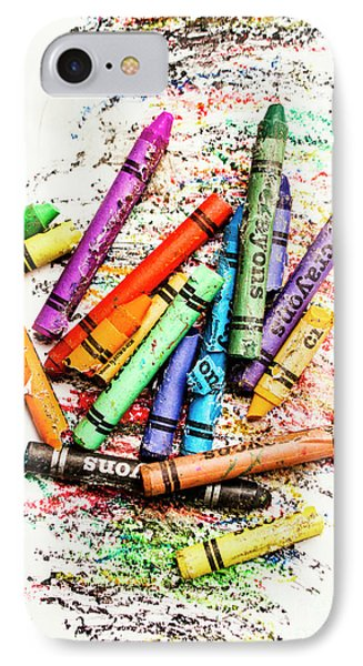 In Colours Of Broken Crayons IPhone Case by Jorgo Photography - Wall Art Gallery