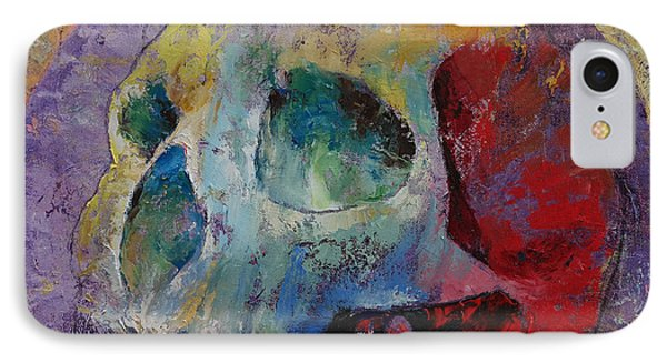 Vintage Skull IPhone Case by Michael Creese
