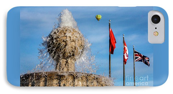 In Flight Over Flags IPhone Case
