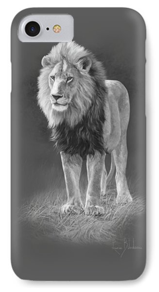 In His Prime - Black And White IPhone Case by Lucie Bilodeau