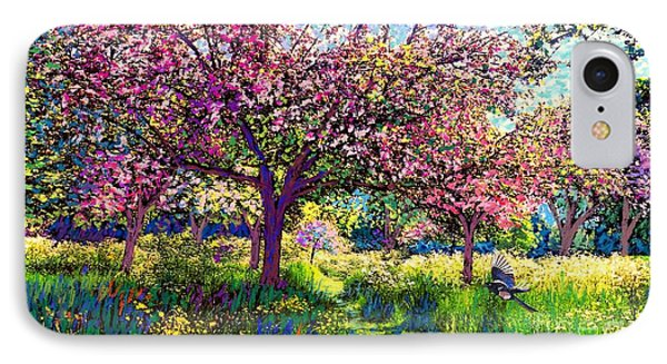 In Love With Spring, Blossom Trees IPhone Case by Jane Small