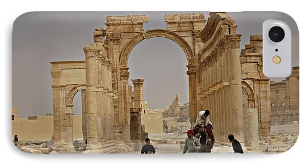 IPhone Case featuring the photograph In Old Palmyra by Cendrine Marrouat