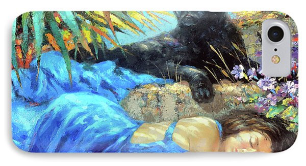 IPhone Case featuring the painting In One's Sleep by Dmitry Spiros