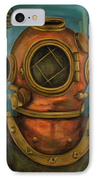 In Search Of Atlantis IPhone Case by Leah Saulnier The Painting Maniac