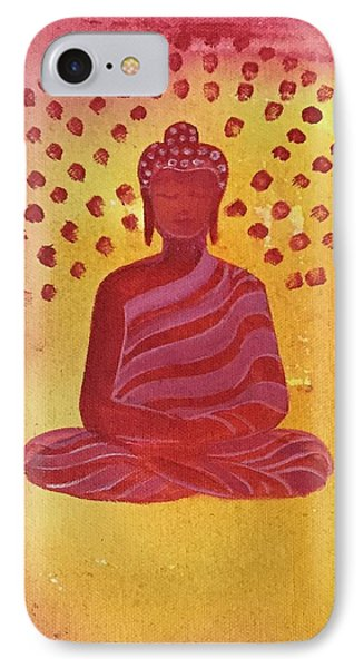 In Search Of Life - Lord Buddha IPhone Case by Nayna Tuli Fineart