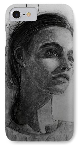 IPhone Case featuring the painting In This Silence I Believe by Jarko Aka Lui Grande
