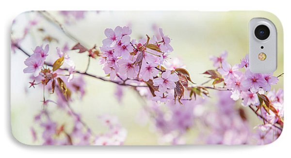 IPhone Case featuring the photograph In Tender Bloom. Spring Watercolors by Jenny Rainbow