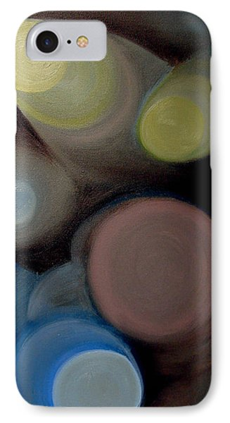 In The Circles Of The Light IPhone Case by Saad Hasnain
