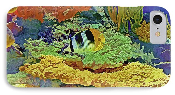 IPhone Case featuring the photograph In The Coral Garden 10 by Lynda Lehmann