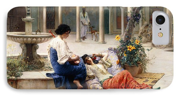 In The Courtyard Of The Harem IPhone Case by Max Ferdinand Bredt