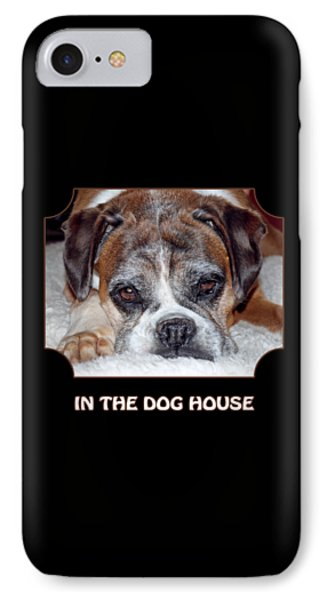 In The Dog House - Black IPhone Case by Gill Billington