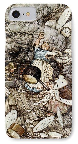 In The Duchesss Kitchen IPhone Case by Arthur Rackham