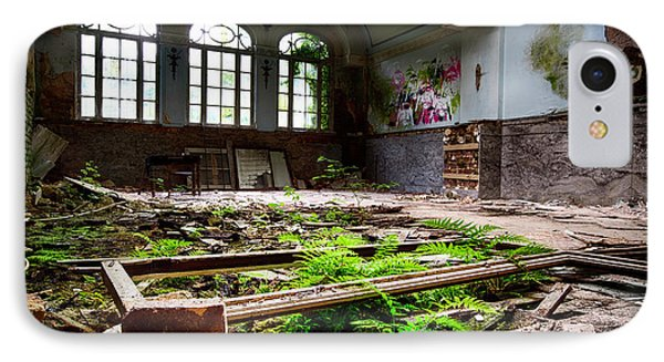 In The End Nature Always Wins - Urbex Abandoned Building IPhone Case by Dirk Ercken
