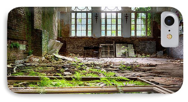 In The End Nature Always Wins - Urbex Abandoned Hotel IPhone Case by Dirk Ercken