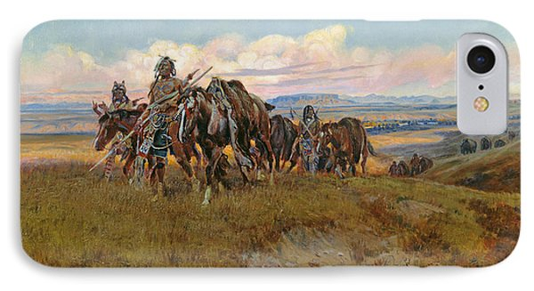 In The Enemy's Country IPhone Case by Charles Marion Russell