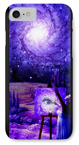 IPhone Case featuring the painting In The Eye Of The Beholder by Robby Donaghey