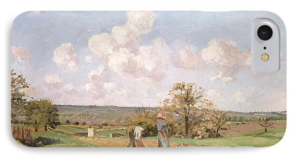In The Fields IPhone Case by Camille Pissarro