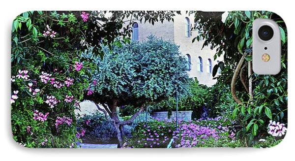 In The Garden At Mount Zion Hotel  IPhone Case by Lydia Holly