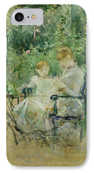 In The Garden IPhone Case by Berthe Morisot