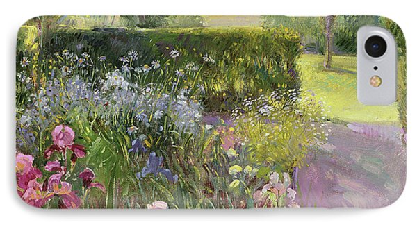 In The Garden   June IPhone Case by Timothy Easton