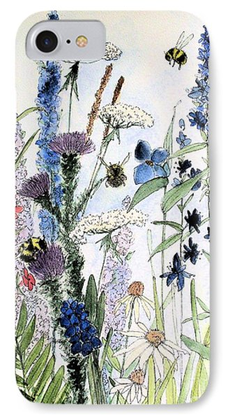 IPhone Case featuring the painting In The Garden by Laurie Rohner