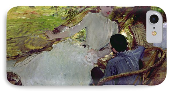 In The Hammock II, 1884 IPhone Case by Giuseppe Nittis