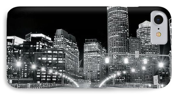 In The Heart Of A Black And White Town IPhone Case by Frozen in Time Fine Art Photography