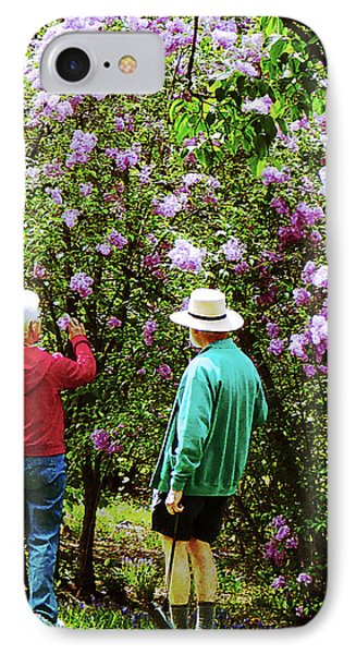 In The Lilac Garden Phone Case by Susan Savad