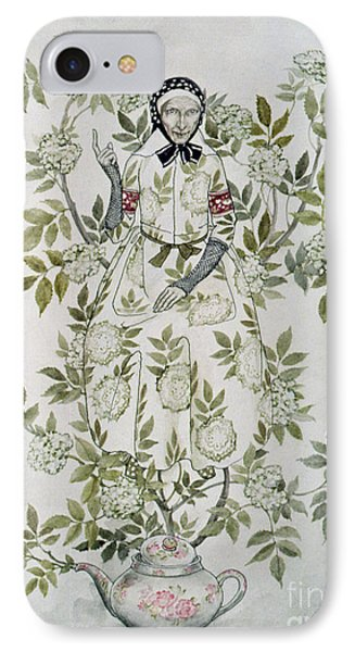 In The Midst Of A Tree Sat A Kindly Looking Old Woman' IPhone Case