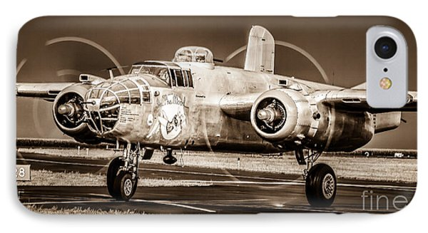 In The Mood - B-25 II IPhone Case by Steven Reed