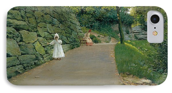 In The Park IPhone Case by William Merritt Chase