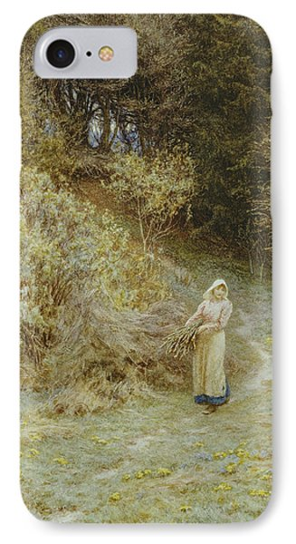 In The Primrose Wood Phone Case by Helen Allingham