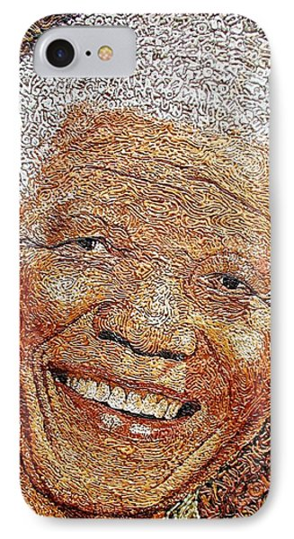 Nelson Mandela - In The Pyramid Of Our Minds IPhone Case by Bankole Abe