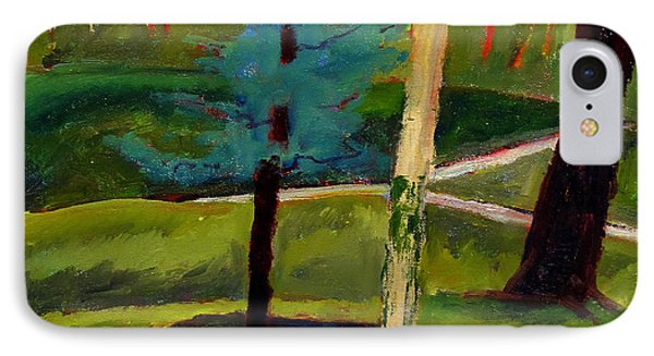 In The Rough Blue Spruce Plein Air IPhone Case by Charlie Spear