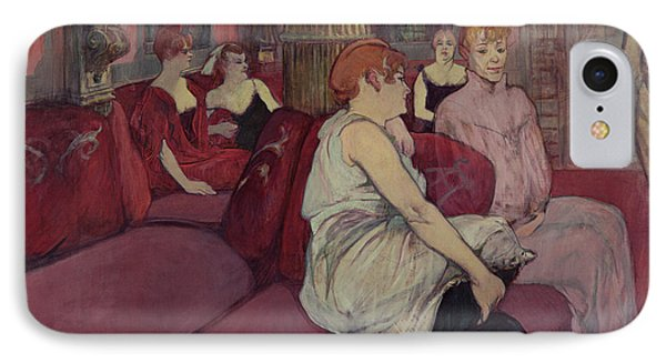 In The Salon At The Rue Des Moulins IPhone Case by Henri de Toulouse-Lautrec