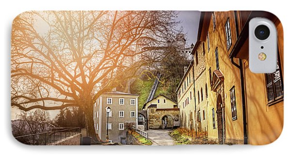 In The Shadow Of Salzburg Castle  IPhone Case by Carol Japp