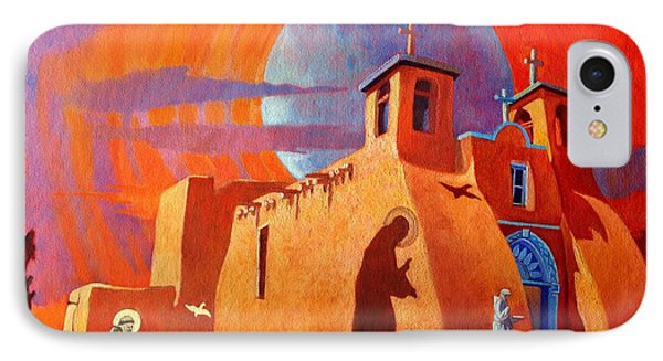 IPhone Case featuring the painting In The Shadow Of St. Francis by Art West