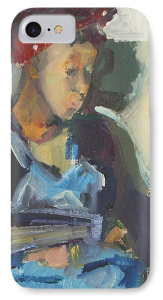 IPhone Case featuring the painting In The Still Of Quiet by Daun Soden-Greene