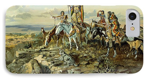 In The Wake Of The Hunters IPhone Case by Charles Marion Russell