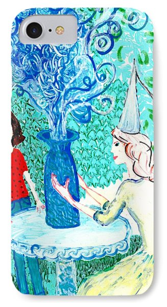 In The White Lady's Cave Phone Case by Sushila Burgess