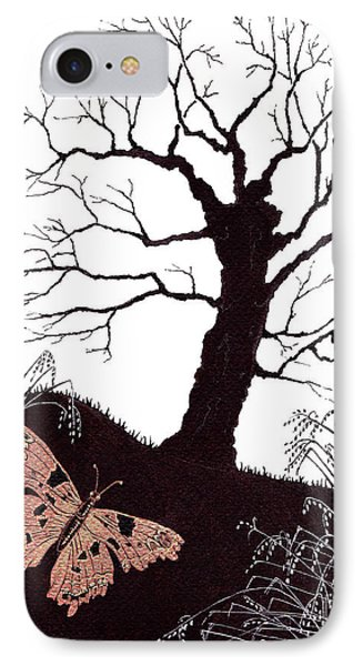 IPhone Case featuring the painting In The Winter Woods by Stanza Widen
