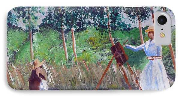 In The Woods At Giverny IPhone Case by Luis F Rodriguez