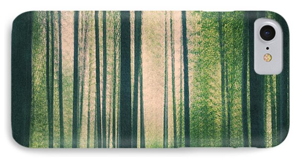 In The Woods Square IPhone Case by Violet Gray
