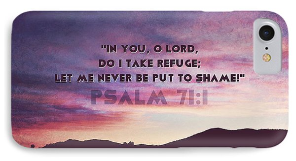 In You I Take Refuge IPhone Case by Sharon Soberon