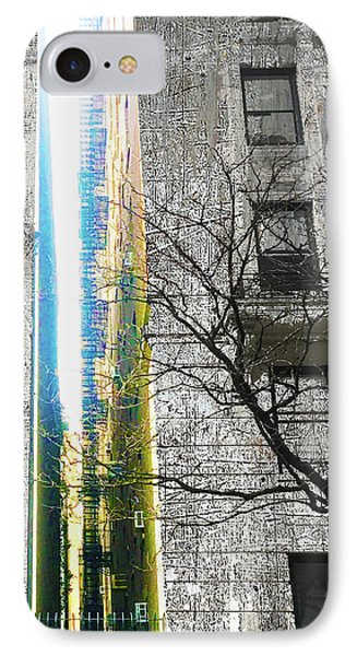 IPhone Case featuring the mixed media Inbetween  by Tony Rubino