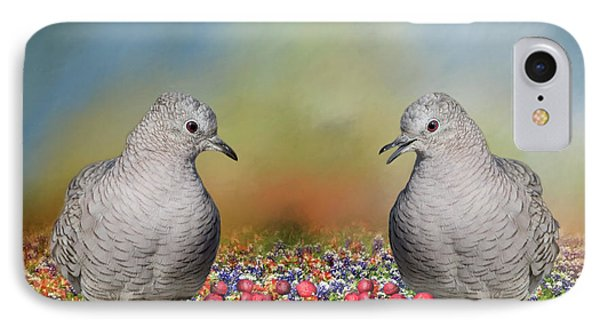 IPhone Case featuring the photograph Inca Doves by Bonnie Barry