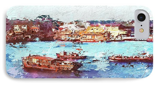 IPhone Case featuring the digital art Inchon Harbor by Dale Stillman