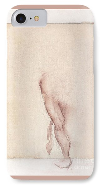 IPhone Case featuring the painting Incognito - Female Nude by Carolyn Weltman