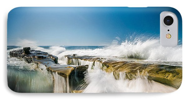 Incoming  La Jolla Rock Formations IPhone Case