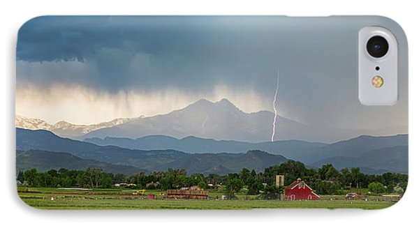 IPhone Case featuring the photograph Incoming Storm Panorama View by James BO Insogna